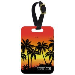 Tropical Sunset Aluminum Luggage Tag (Personalized)