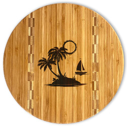 Tropical Sunset Bamboo Cutting Board (Personalized)
