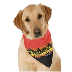 Tropical Sunset Pet Bandanas (Personalized)