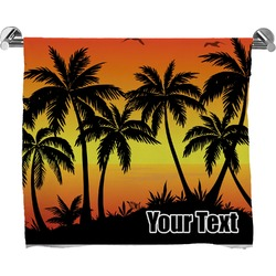 Tropical Sunset Bath Towel (Personalized)