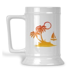 Tropical Sunset Beer Stein (Personalized)
