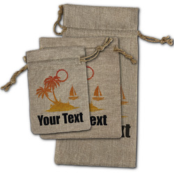 Tropical Sunset Burlap Gift Bags (Personalized)