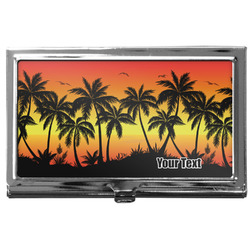 Tropical Sunset Business Card Holder