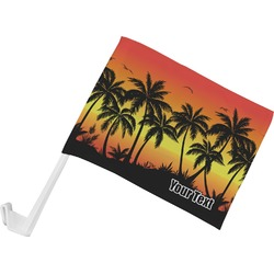 Tropical Sunset Car Flag (Personalized)