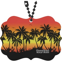 Tropical Sunset Rear View Mirror Charm (Personalized)