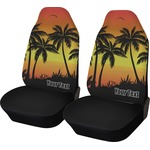 Tropical Sunset Car Seat Covers (Set of Two) (Personalized)