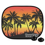 Tropical Sunset Car Side Window Sun Shade (Personalized)