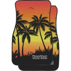 Tropical Sunset Car Floor Mats (Front Seat) (Personalized)
