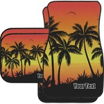 Tropical Sunset Car Floor Mats (Personalized)