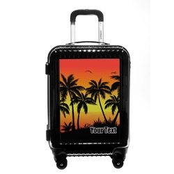 Tropical Sunset Carry On Hard Shell Suitcase (Personalized)