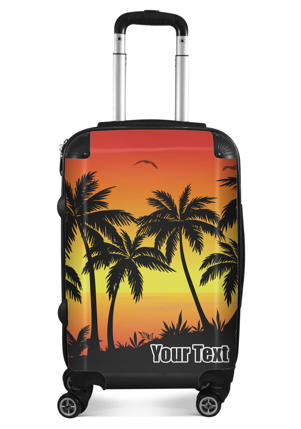 Tropical Sunset Suitcase Personalized Youcustomizeit