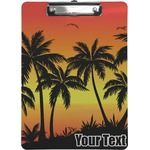 Tropical Sunset Clipboard (Personalized)