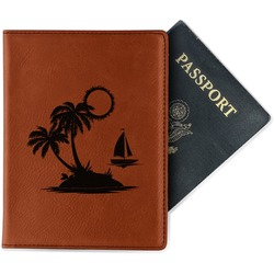 Tropical Sunset Leatherette Passport Holder (Personalized)