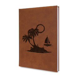 Tropical Sunset Leatherette Journal (Personalized)