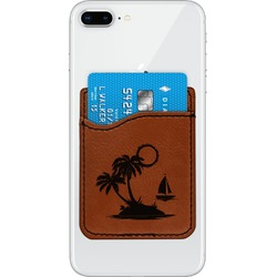 Tropical Sunset Leatherette Phone Wallet (Personalized)