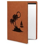 Tropical Sunset Leatherette Portfolio with Notepad (Personalized)