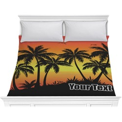 Tropical Sunset Comforter - King (Personalized)