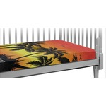 Tropical Sunset Crib Fitted Sheet (Personalized)