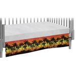 Tropical Sunset Crib Skirt (Personalized)