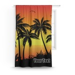 Tropical Sunset Curtain (Personalized)