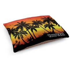 Tropical Sunset Dog Bed - Medium w/ Name or Text