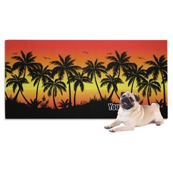 Tropical Sunset Pet Towel (Personalized)