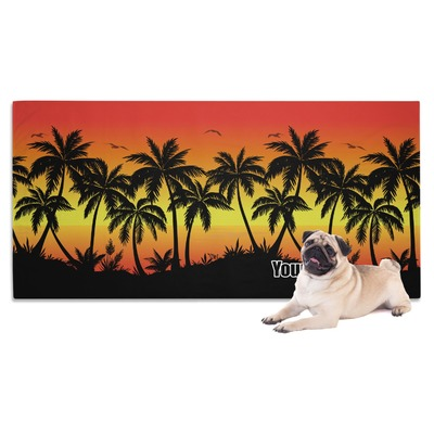 Tropical Sunset Dog Towel (Personalized)