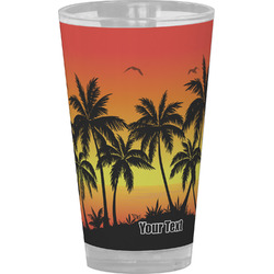 Tropical Sunset Drinking / Pint Glass (Personalized)