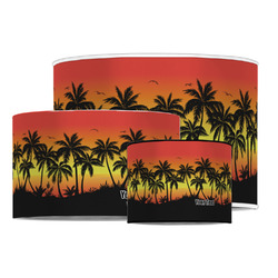 Tropical Sunset Drum Lamp Shade (Personalized)