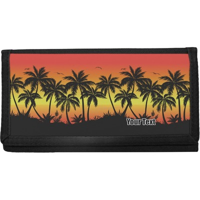 Tropical Sunset Canvas Checkbook Cover (Personalized)
