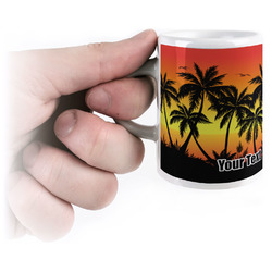 Tropical Sunset Espresso Mug - 3 oz (Personalized)