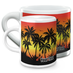 Tropical Sunset Espresso Cups (Personalized)