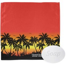 Tropical Sunset Washcloth (Personalized)