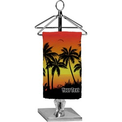 Tropical Sunset Finger Tip Towel - Full Print (Personalized)