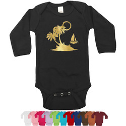 Tropical Sunset Foil Bodysuit - Long Sleeves - Gold, Silver or Rose Gold (Personalized)