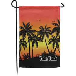 Tropical Sunset Garden Flag - Single or Double Sided (Personalized)