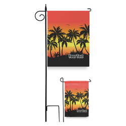 Tropical Sunset Garden Flag (Personalized)