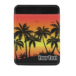 Tropical Sunset Genuine Leather Money Clip (Personalized)