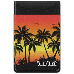 Tropical Sunset Genuine Leather Small Memo Pad (Personalized)