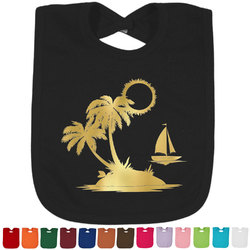 Tropical Sunset Foil Toddler Bibs (Select Foil Color) (Personalized)