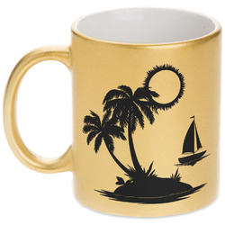 Tropical Sunset Gold Mug