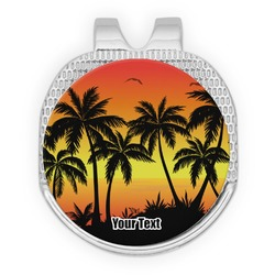 Tropical Sunset Golf Ball Marker - Hat Clip