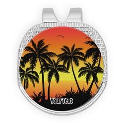 Tropical Sunset Golf Ball Marker - Hat Clip