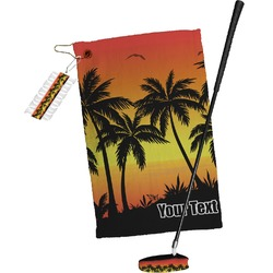 Tropical Sunset Golf Towel Gift Set (Personalized)