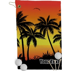 Tropical Sunset Golf Towel - Full Print (Personalized)
