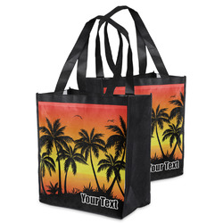 Tropical Sunset Grocery Bag (Personalized)