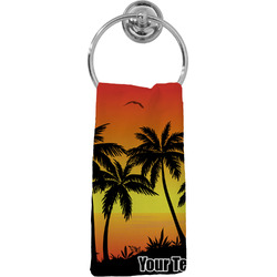 Tropical Sunset Hand Towel - Full Print (Personalized)