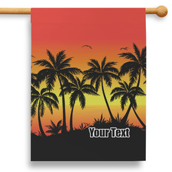 """Tropical Sunset 28"""" House Flag - Double Sided (Personalized)"""