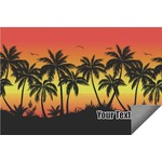 Tropical Sunset Indoor / Outdoor Rug (Personalized)