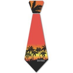 Tropical Sunset Iron On Tie (Personalized)